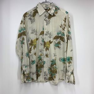 7 Diamonds men's floral button up 100% cotton